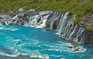 Водопад Хройнфоссар (Hraunfossar)