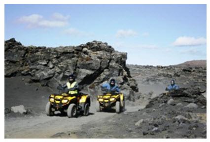 Квадроциклы (ATV) на лавовых полях